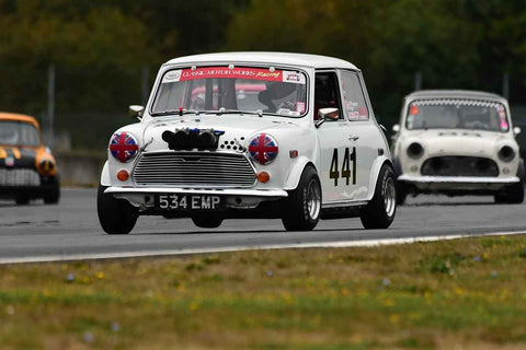 Geoff Tupholme - 1973 Austin Mini in Group 8 60th Anniversary of the Mini at the 2019 SOVREN Columbia River Classic run at Portland International Raceway