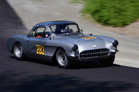 Ron Erickson - 1957 Chevrolet Corvette in Group 1Vintage & Small Bore Production/FV/ FJr  at the 2019 SOVREN Spring Sprints run at Pacific Raceway