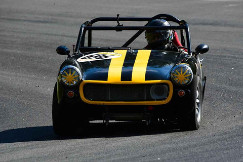 Karlo Flores - 1967 Austin Healey Sprite Mk III in Group 1Vintage & Small Bore Production/FV/ FJr  at the 2019 SOVREN Spring Sprints run at Pacific Raceway