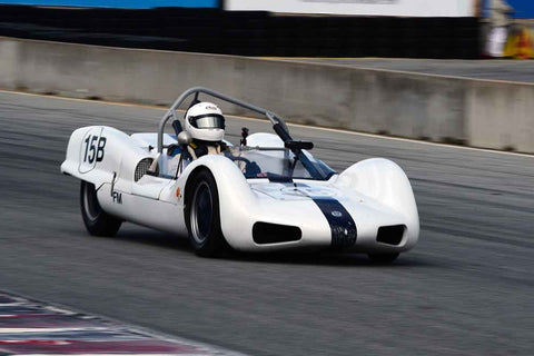 Thor Thorson - 1962 Elva Mk 6 in Group 4 Limited production sports cars, racing specials and GT cars built or in production prior to 1960 at the 2019 SVRA Trans Am Speed Fest run at Weathertech Raceway Laguna Seca