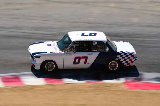 Dwight Anderson - 1970 BMW 2002 in Group 8 Recongized series-produced sports cars and sedans in production prior to 1979 at the 2019 SVRA Trans Am Speed Fest run at Weathertech Raceway Laguna Seca