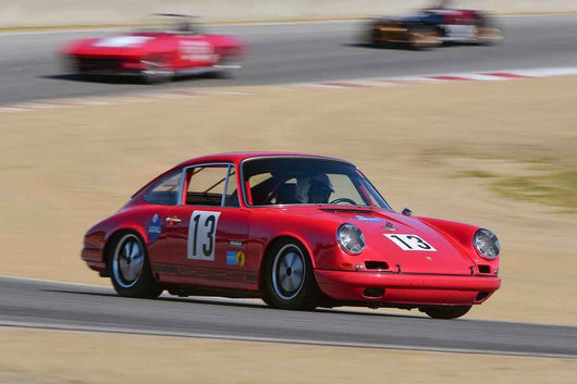 Paul Gaudio - 1968 Porsche 911 in Group 8 Recongized series-produced sports cars and sedans in production prior to 1979 at the 2019 SVRA Trans Am Speed Fest run at Weathertech Raceway Laguna Seca