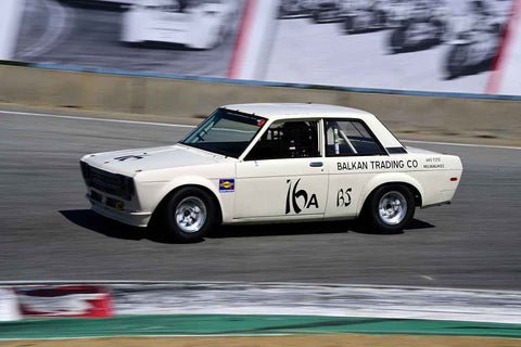 Daniel Caggiano - 1973 Datsun 510 in Group 8 Recongized series-produced sports cars and sedans in production prior to 1979 at the 2019 SVRA Trans Am Speed Fest run at Weathertech Raceway Laguna Seca