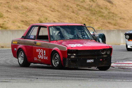 Glenn Chiou - 1968 Datsun 510 in Group 8 Recongized series-produced sports cars and sedans in production prior to 1979 at the 2019 SVRA Trans Am Speed Fest run at Weathertech Raceway Laguna Seca