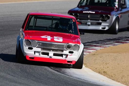 Richard Stuart Milne - 1971 Datsun 510 in Group 8 Recongized series-produced sports cars and sedans in production prior to 1979 at the 2019 SVRA Trans Am Speed Fest run at Weathertech Raceway Laguna Seca