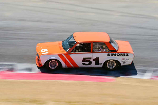 Taz Harvey - 1969 Datsun 510 in Group 8 Recongized series-produced sports cars and sedans in production prior to 1979 at the 2019 SVRA Trans Am Speed Fest run at Weathertech Raceway Laguna Seca