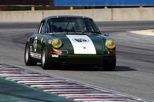 Eric Smith - 1969 Porsche 911 in Group 8 Recongized series-produced sports cars and sedans in production prior to 1979 at the 2019 SVRA Trans Am Speed Fest run at Weathertech Raceway Laguna Seca