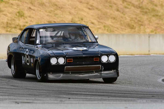 John Yandell - 1973 Ford Capri in Group 8 Recongized series-produced sports cars and sedans in production prior to 1979 at the 2019 SVRA Trans Am Speed Fest run at Weathertech Raceway Laguna Seca