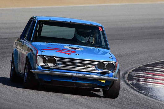 Thomas Dockery - 1971 Datsun 510 in Group 8 Recongized series-produced sports cars and sedans in production prior to 1979 at the 2019 SVRA Trans Am Speed Fest run at Weathertech Raceway Laguna Seca
