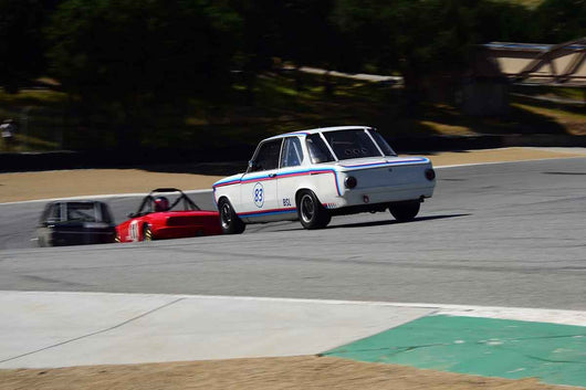 Keith Lippiatt - 1970 BMW 2002 in Group 8 Recongized series-produced sports cars and sedans in production prior to 1979 at the 2019 SVRA Trans Am Speed Fest run at Weathertech Raceway Laguna Seca