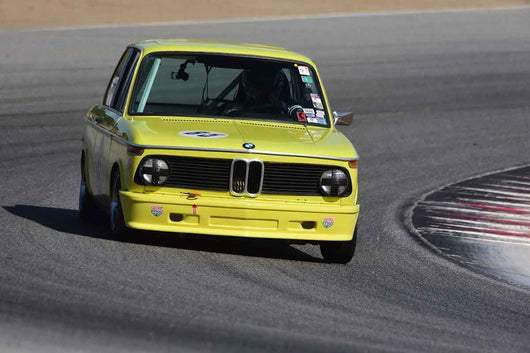 Eric Johnson - 1975 BMW 2002 in Group 8 Recongized series-produced sports cars and sedans in production prior to 1979 at the 2019 SVRA Trans Am Speed Fest run at Weathertech Raceway Laguna Seca