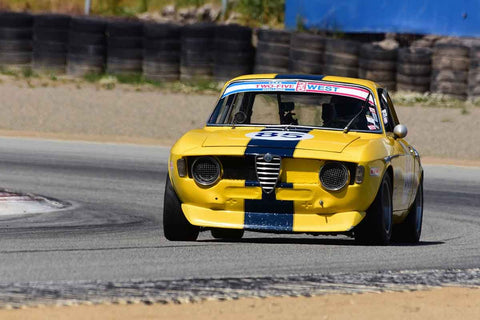 Bob Wass - 1967 Alfa Romeo  GTV in Group 8 Recongized series-produced sports cars and sedans in production prior to 1979 at the 2019 SVRA Trans Am Speed Fest run at Weathertech Raceway Laguna Seca