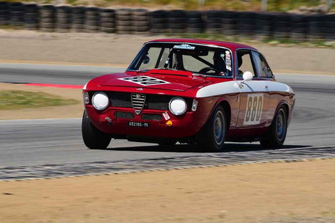 Rick Jeffery - 1966 Alfa Romeo  GTA in Group 8 Recongized series-produced sports cars and sedans in production prior to 1979 at the 2019 SVRA Trans Am Speed Fest run at Weathertech Raceway Laguna Seca
