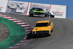 Group HTA Trans-Am cars raced between 1966 and 1972 at the 2019 SVRA Trans Am Speed Fest run at Weathertech Raceway Laguna Seca