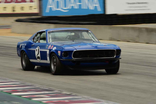 Don Dimitriadis - 1969 Ford Mustang in Group HTA Trans-Am cars raced between 1966 and 1972 at the 2019 SVRA Trans Am Speed Fest run at Weathertech Raceway Laguna Seca