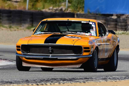 Jim Hague - 1971 Ford Mustang Boss 302 in Group HTA Trans-Am cars raced between 1966 and 1972 at the 2019 SVRA Trans Am Speed Fest run at Weathertech Raceway Laguna Seca
