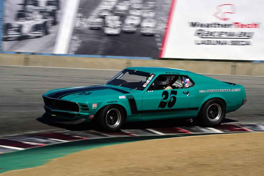 Craig Conley - 1970 Ford Mustang Boss 302 in Group HTA Trans-Am cars raced between 1966 and 1972 at the 2019 SVRA Trans Am Speed Fest run at Weathertech Raceway Laguna Seca