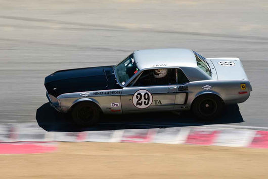 James Bittle - 1968 Ford Mustang Tunnel Port 302 in Group HTA Trans-Am cars raced between 1966 and 1972 at the 2019 SVRA Trans Am Speed Fest run at Weathertech Raceway Laguna Seca