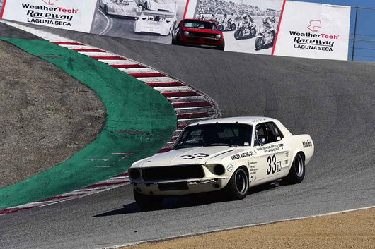 Gary Underwood - 1967 Shelby Mustang in Group HTA Trans-Am cars raced between 1966 and 1972 at the 2019 SVRA Trans Am Speed Fest run at Weathertech Raceway Laguna Seca