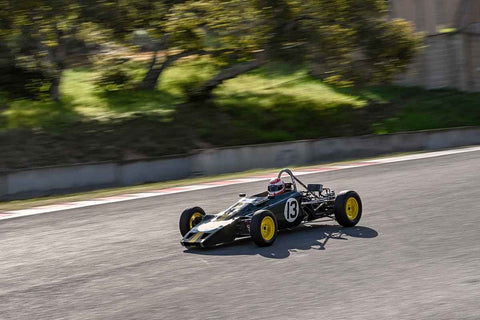 Danny Baker - 1969 Lotus 61 in Group 3 at the 2020 HMSA Spring Club Event run at WeatherTech Raceway Laguna Seca/Monterey, California