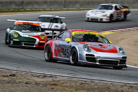 Porsche GT3 Cup in Group 6 at the 2020 HMSA Spring Club Event run at WeatherTech Raceway Laguna Seca/Monterey, California