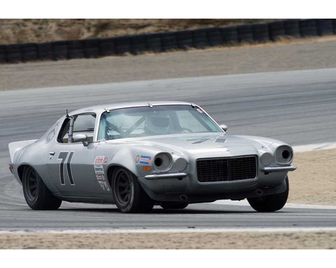 Walter Brown driving his Chevrolet Camaro in Group 6 at the 2015 HMSA Spring Club Event at Mazda Raceway Laguna Seca