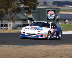 John Goodman with 1987 Pontiac Fiero in Group 13 - 1982-1991 Historic IMSA GTO/SCCA Trans-Am at the 2015 Sonoma Historic Motorsports Festival at Sonoma Raceway