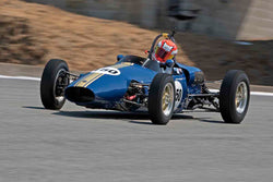 David Watkins - 1962 Elfin FJ in Group 2B - 1958-1960 Formula Jr. - front engine or drum brakes at the 2017 Rolex Monterey Motorsport Reunion run at Mazda Raceway Laguna Seca