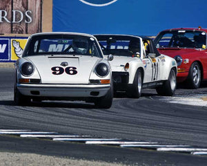 Ed Matsuishi with 1965 Porsche 911 in Group 3 - Eifel Trophy at the 2015 Rennsport Reunion V, Mazda Raceway Laguna Seca