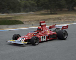 Peter Read driving his 1974 Ferrari 312B3 in Group 2 at the 2015 HMSA LSR Inventional I at Mazda Raceway Laguna Seca