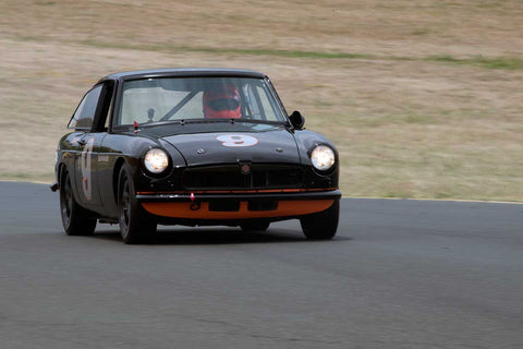 Scott Brown with 1966 MGB GT in Group 3 -  at the 2016 SVRA Sonoma Historics - Sears Point Raceway