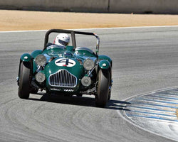 Steve Schuler with 1950 Allard Jwith2 Le Mans in Group 2B - 1947-1955 Sports Racing and GT Cars at the 2015-Rolex Monterey Motorsport Reunion, Mazda Raceway Laguna Seca