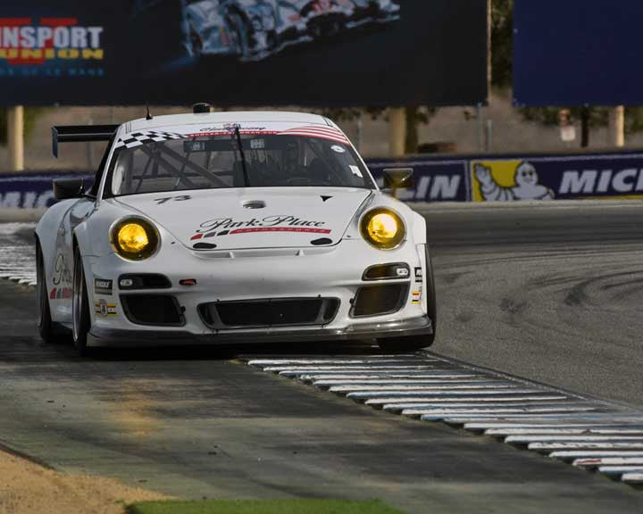 Patrick Lindsey with 2014 Porsche GT3 Cup in Group 1 - PCA Sholar-Friedman Cup at the 2015 Rennsport Reunion V, Mazda Raceway Laguna Seca