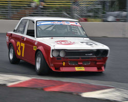 Tom Neely with 1970 Datsun 510 in Group 8 - Production Sports Cars and Sedan 1973-1985 at the 2015 Portland Vintage Racing Festival at Portland International Raceway