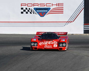 Lee Giannone with 1985 Porsche 962 in Group 6 - Stuttgart Cup at the 2015 Rennsport Reunion V, Mazda Raceway Laguna Seca