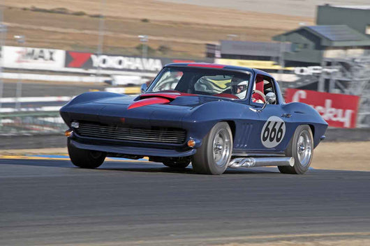 Damian Friary - 1966 Chevrolet Corvette in Group 3 -  at the 2016 Charity Challenge - Sonoma Raceway