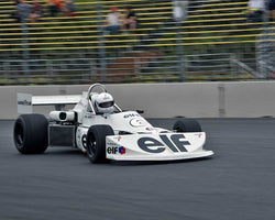 Mark Jaremko with 1975 March 75B in Group 9 - Wings and Slicks - Open Wheel Cars 1973-2008 at the 2015 Portland Vintage Racing Festival at Portland International Raceway