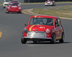 Holger Mishal with 1965 Austin Mini Cooper S in Group 2 - at the 2016 CSRG David Love Memorial - Sears Point Raceway