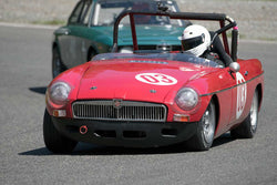 Andrea Hart with MGB in Group 1 - at the 2016 SOVREN Spring Sprints, Pacific Raceway