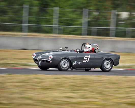 Mark Carpenter with Alfa Romeo Spider in Group 1 - Small Bore Production Cars at the 2015 Portland Vintage Racing Festival at Portland International Raceway