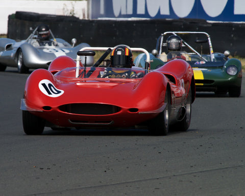 Mac McGarry driving his 1965 Genie MK 10 in Group 4 at the 2015 CSRG David Love Memorial Vintage Car Road Races at Sonoma Raceway