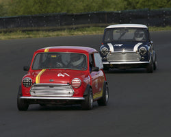 Holger Mishal driving his 1965 Austin Mini Cooper S in Group 2 at the 2015 CSRG David Love Memorial Vintage Car Road Races at Sonoma Raceway