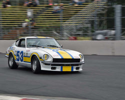 Skip Yocom with 1971 Datsun 240Z in Group 8 - Production Sports Cars and Sedan 1973-1985 at the 2015 Portland Vintage Racing Festival at Portland International Raceway