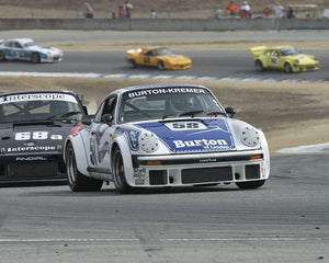 Kees Nierop with 1976 Porsche 934 in Group 5 - Carrera Trophy at the 2015 Rennsport Reunion V, Mazda Raceway Laguna Seca