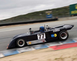 David Alvarado driving his Chevron B23 in Group 5 at the 2015 HMSA Spring Club Event at Mazda Raceway Laguna Seca