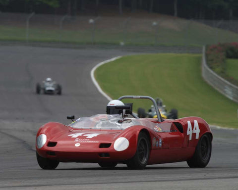 Robert Maurer with 1963 Elva Mk 7 in Group 3 at the 2015 HMSA Barber Historics