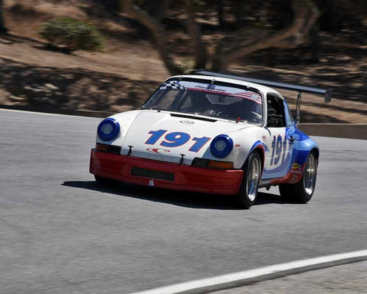 Clarke Simpson with 1971 Porsche 911 RSR in Group 1 - PCA Sholar-Friedman Cup at the 2015 Rennsport Reunion V, Mazda Raceway Laguna Seca