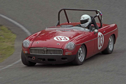 Andrea Hart - MGB in Group 1 at the 2017 SOVREN Spring Sprints run at Pacific Raceways