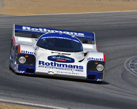 Charles Nearburg with 1986 Porsche 962 in Group 6 - Stuttgart Cup at the 2015 Rennsport Reunion V, Mazda Raceway Laguna Seca