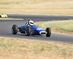 Sharon Adelman driving her 1963 Brabham BT6 in Group 4 at the 2015 CSRG Thunderhill Rolling Thunder at Thunderhill Raceway